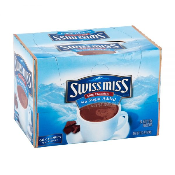 Hot Chocolate Swiss Miss Sugar Free 6 boxes of 24cs