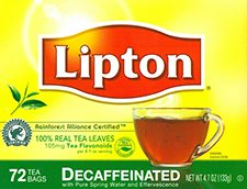 Decaf Tea Bags Lipton 432cs
