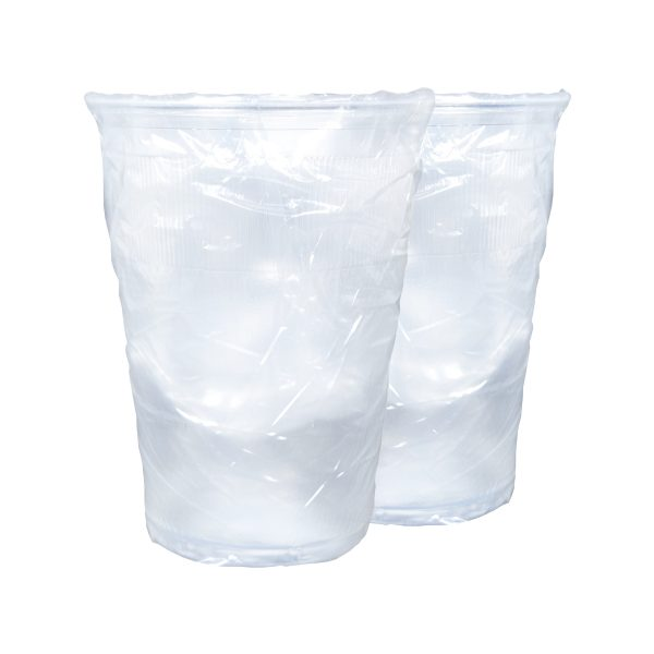 Plastic PP Cups Wrapped 10oz