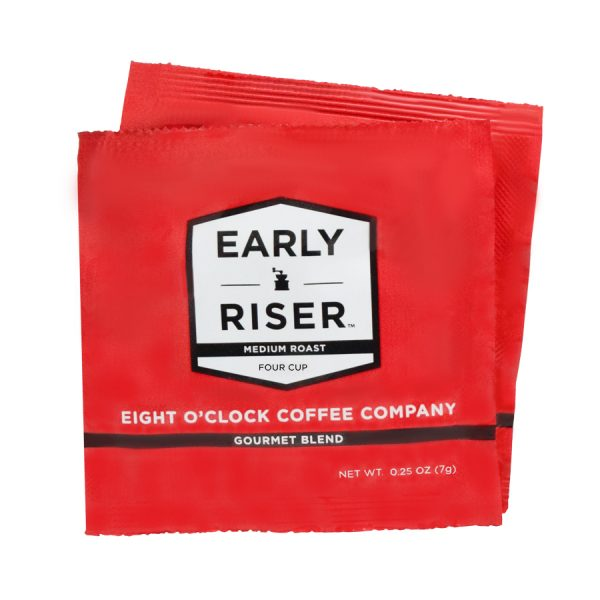 Early Riser Eight O'Clock Regular Coffee 4 Cups