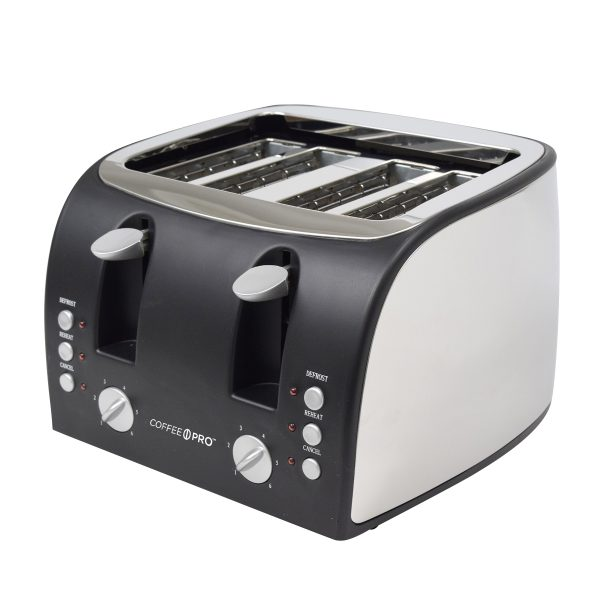 Toaster Stainless Steel 4 Slice 4cs Each