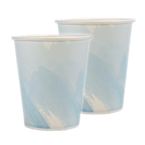 Single Wall Hot Cup Generic Blue Unwrapped 5oz