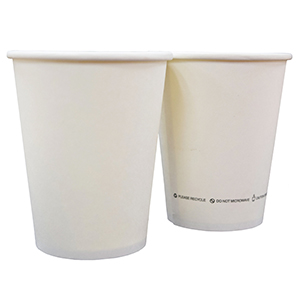 Single Wall Hot Paper Cup Generic Unwrapped 8oz FSC