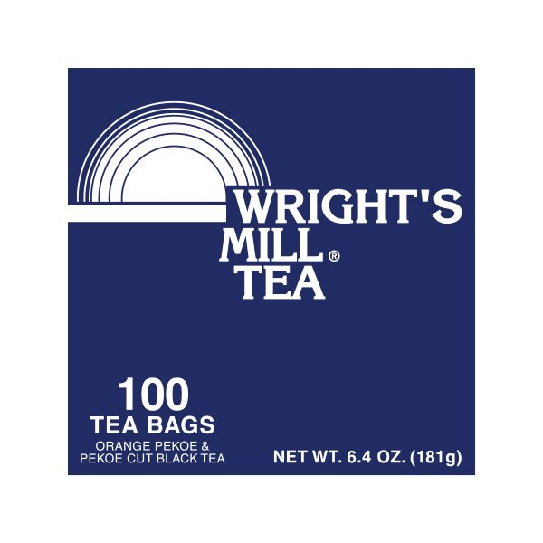 Regular Tea Bags Wrights Mill 10 Boxes 100cs
