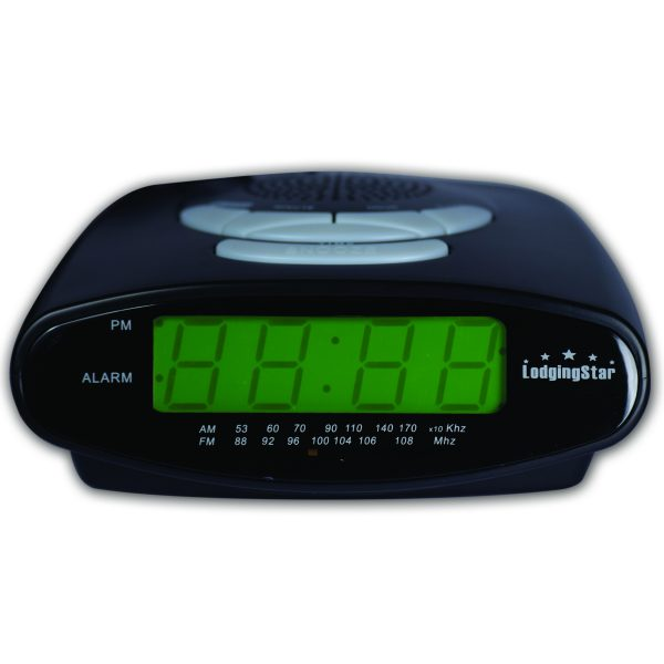 Clock Radio Black Green LED 20cs Each