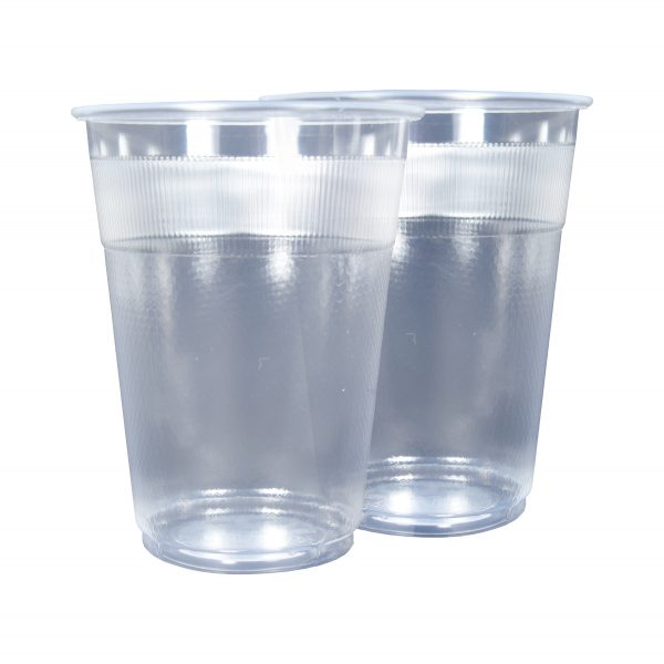 Plastic PP Cups Unwrapped 12oz