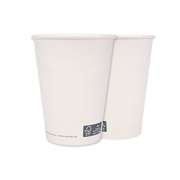 Single Wall Hot Paper Cup Generic Unwrapped 12oz FSC