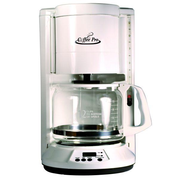 Coffee Maker White 12 Cup Flat Basket 2cs Each