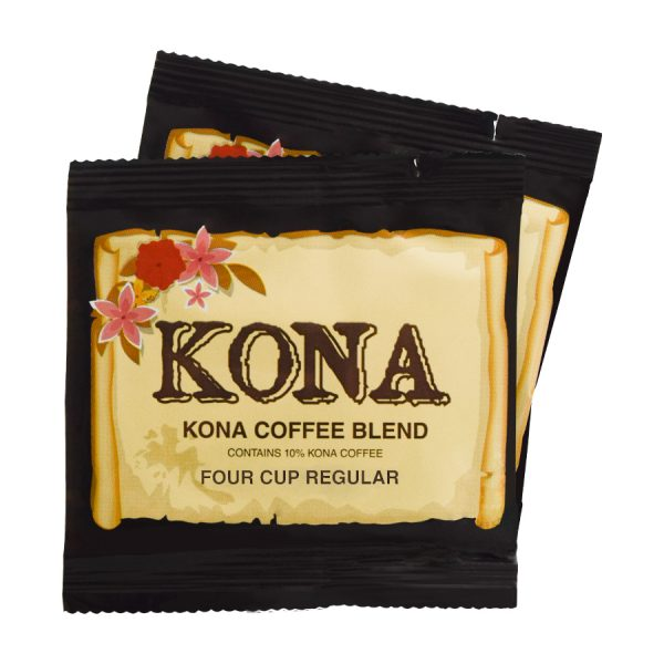 Kona Hawaii Blend Regular Coffee 4 Cups