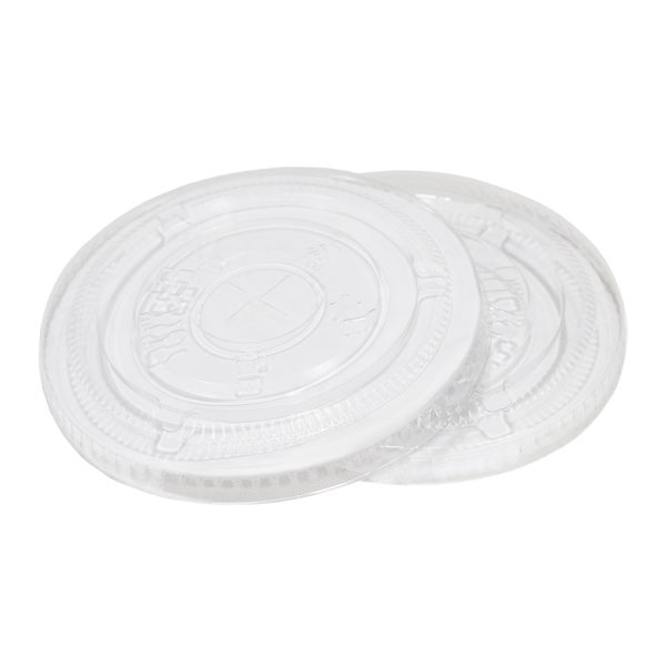 98mm PET Flat Lid with Straw Slot