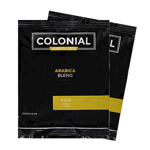 Colonial Arabica Blend 1-Cup Regular Coffee Packets