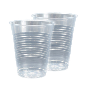 Plastic PP Cups Unwrapped 9oz