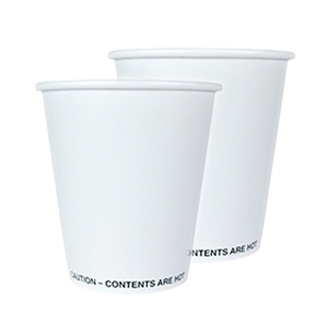 Single Wall Hot Paper Cup Generic Unwrapped 10oz