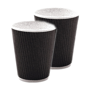 Ripple Cup Black Unwrapped 12oz